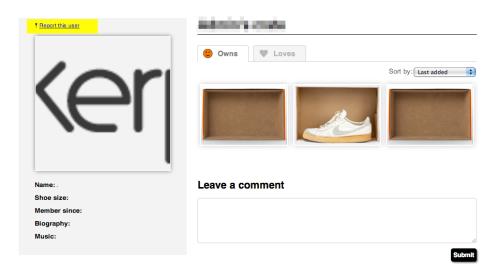 report this user sneakerpedia