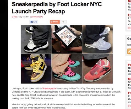 sneakerpedia coverage tsg