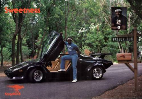 KangaROOS x Walter Payton Original Laamborghini Countach Poster Advertisement