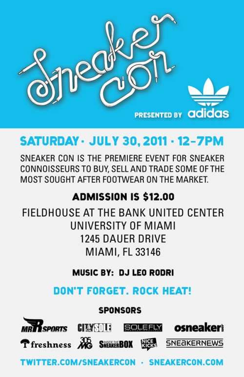 Sneaker Con Miami July 30th