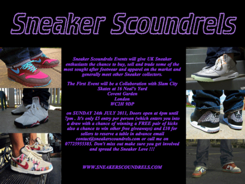 Sneaker Scoundrels London Event Flyer