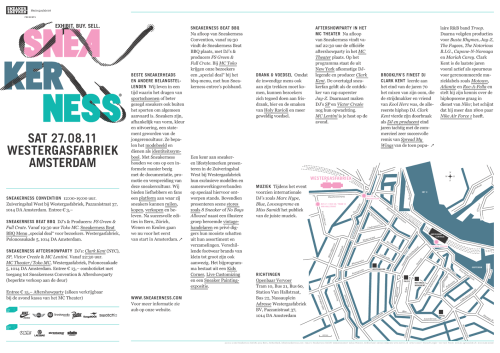 Sneakerness Amsterdam Program *Click Image for Full Size*