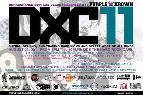 DunkXChange Las Vegas August 23rd