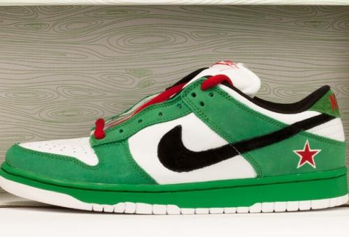 "reputable site 2659e 742c7 Sneaker Showcase: Dunk Low Pro SB ""Heineken"" | Sneakerpedia"