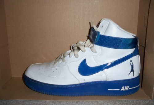 "Nike Air Force 1 High ""Sheed"" White_Blue Jay uploaded by Chocolate"