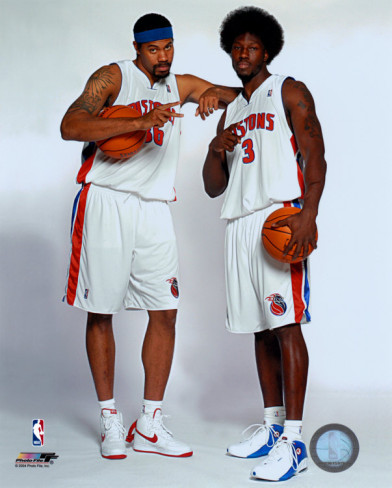 Rasheed Wallace with Ben Wallace