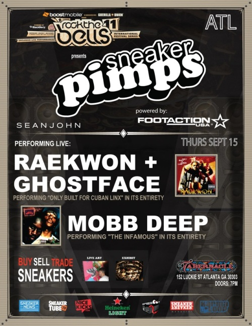 Sneaker Pimps Atlanta September 15th
