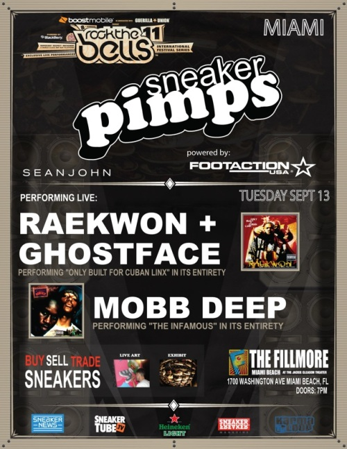 Sneaker Pimps Miami September 14th