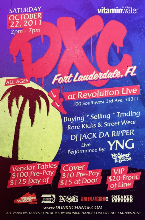 DunkXChange Fort Lauderdale October 22nd