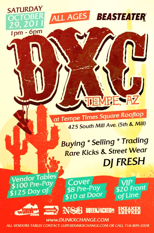 DunkXChange Tempe October 29th