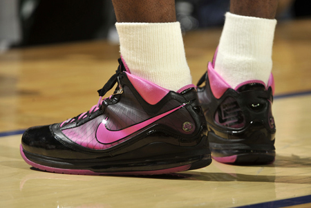 Nike Air Max LeBron 7 Box Out Cancer image courtesy of Sneakermestupid