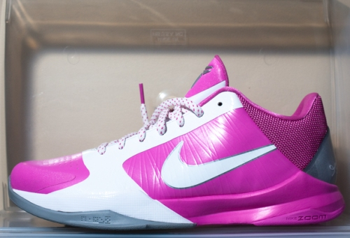 Nike Zoom Kobe V Pink Breast Cancer Awareness colorway uploaded by Mayor.