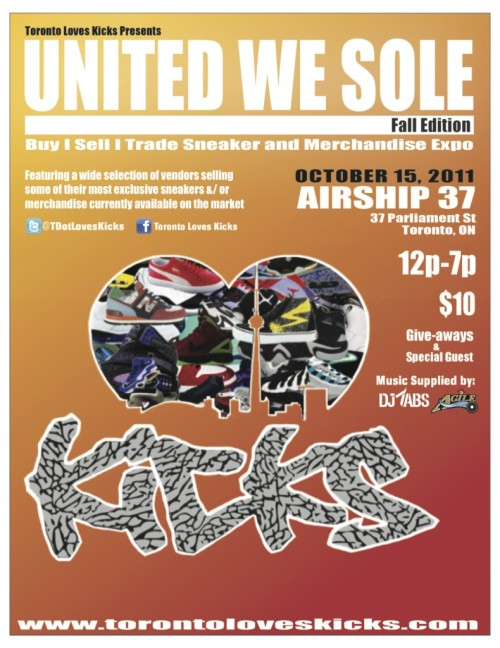 United We Sole Toronto October 15th