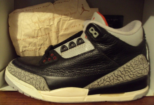 Jordan Retro 3 Black/Cement 1994 uploaded by Stay Updated