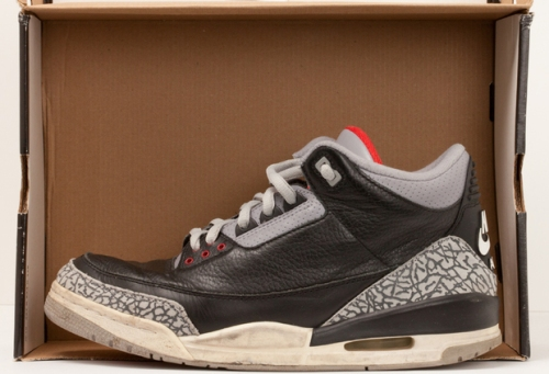 Jordan Retro 3 Black/Cement uploaded by we did it in style **