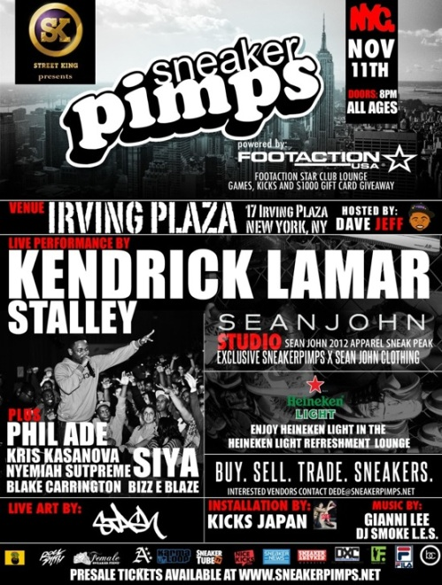 Sneaker Pimps NYC November 11th