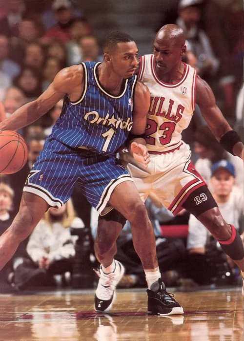 Michael Jordan wearing Air Jordan XI Concords