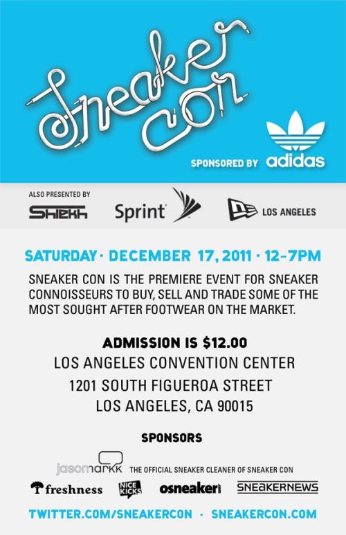 Sneaker Con LA December 17th