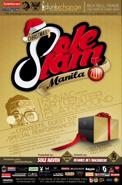 Sole Slam Manila Christmas December 10th