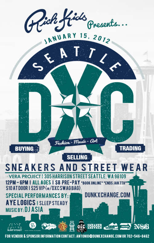 DunkXChange Seattle January 15th