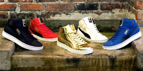 UNDFTD x Puma Suede Mid 24K Collection
