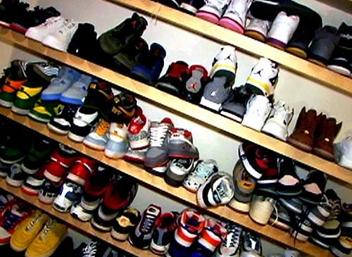DJ AM Sneaker Wall