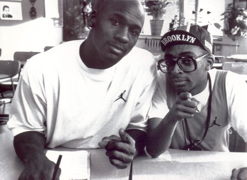 Michael Jordan with Mars Blackmon aka Spike Lee