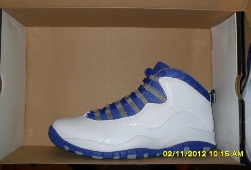 Air Jordan 10 Retro White-Old Royal-Stealth uploaded by MAD1ER