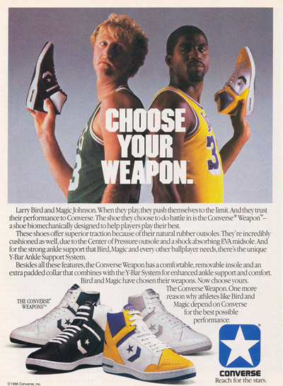 Choose Your Weapon Converse Advertisement