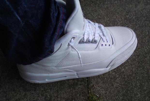 jordan 3 pure money on feet