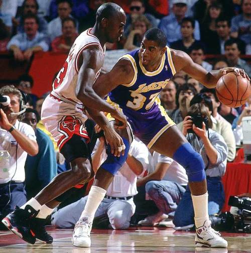 Michael Jordan and Magic Johnson image courtesy of SI