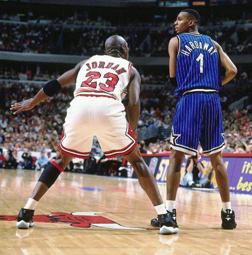 Penny hardaway sneakerpedia penny hardaway wearing the air flight one against michael jordan in the jordan 11 space jams sciox Gallery