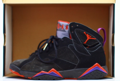Air Jordan 7 Retro Black-Dark Charcoal/True Red uploaded by DruNYC
