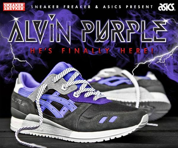 asics gel lyte iii alvin purple