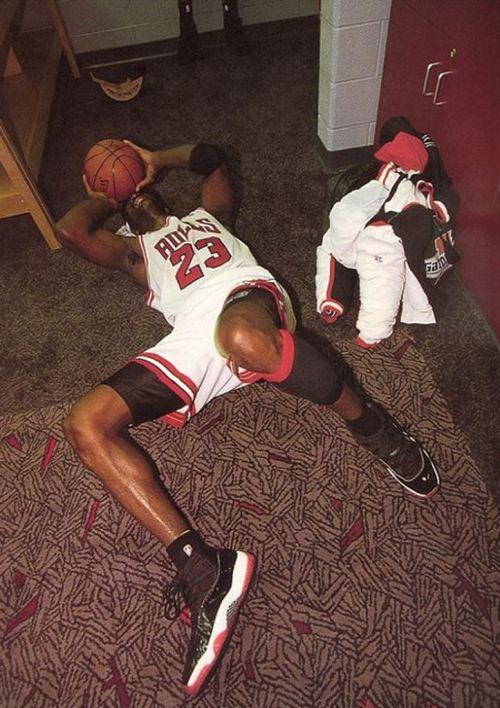 Michael Jordan 4th Championship in Air Jordan XI Black/Red