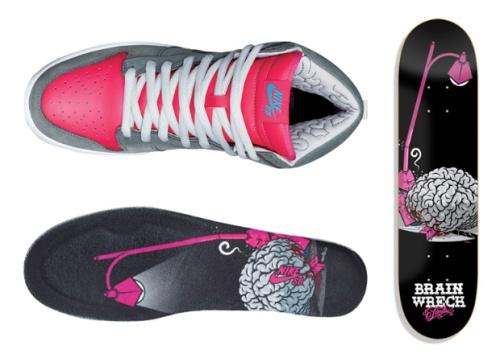 "Nike SB Dunk High ""Brain Wreck"" Details"