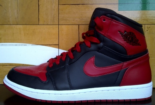 "Air Jordan 1 ""Bulls"" uploaded by  @travtaug"