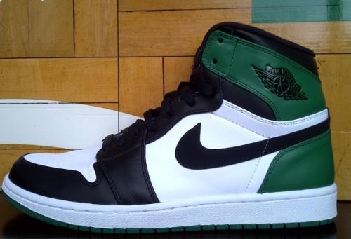 """Air Jordan 1 """"Celtics"""" uploaded by  @travtaug"""