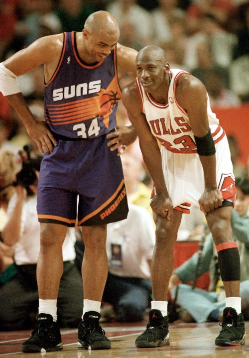Charles Barkley and Michael Jordan