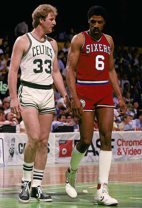 Dr. J and Larry Bird