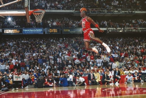 Michael Jordan Slam Dunk Contest in Air Jordan III White/Cement