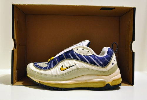 Nike Air Max 98 White_Royal_Yellow uploaded by airon0828