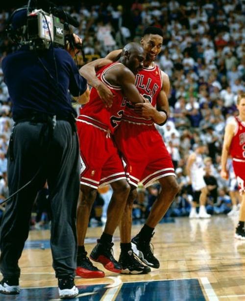 "Michael Jordan Scottie Pippen ""Flu Game"""