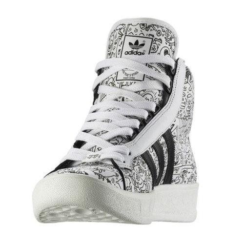 adidas Adicolor Hi BK2 Jeremy Scott For Keith Haring Frontal