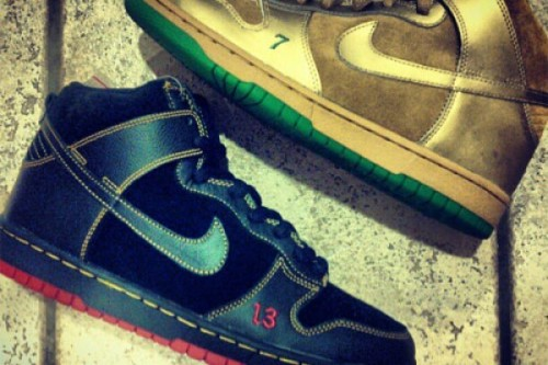 "Nike SB Dunk High ""Lucky and Unlucky"""