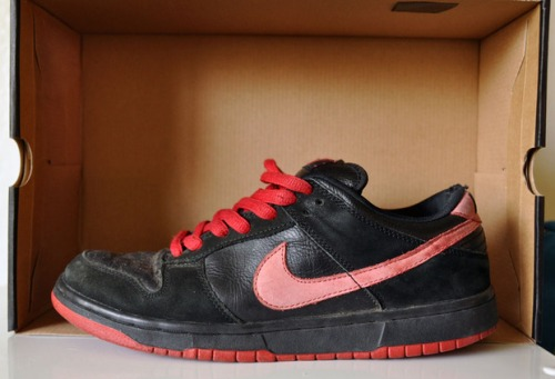 "Nike SB Dunk Low Black_True Red ""Vamps"" uploaded by Pkballr"