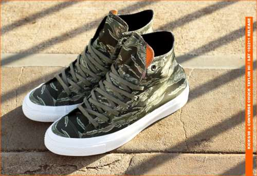 "KICKS/HI x Converse First String ""Tiger Camo"" Chuck Taylor"