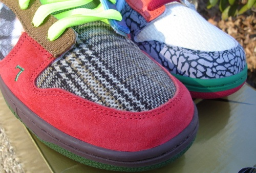 "Nike SB Dunk Low ""What the Dunk"" Toebox"