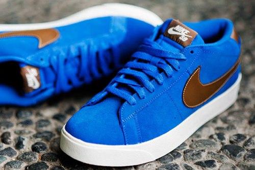 Nike SB Blazer CS Blue Sapphire-Dark Khaki