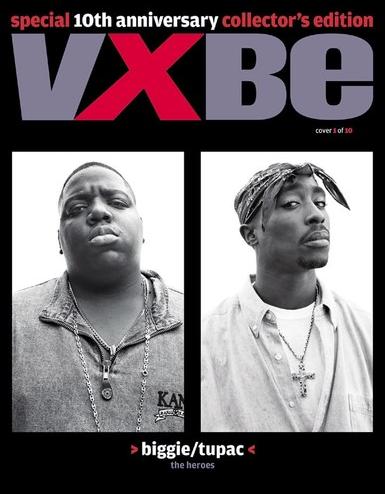 Vibe 10th Anniversary Cover Tupac Biggie